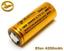EFAN Baterie IMR 26650 4200mAh