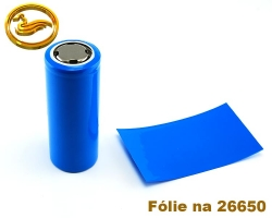 Fólie na baterii 26650 - modrá