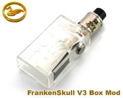 FrankenSkull V3 Box Mod Acrylic - kit (průhledný) - klon