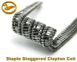Coilmaster - Staple Staggered Fused Clapton Coil - 3ks/bal