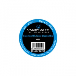 Vandy Vape Superfine MTL Fused Clapton Ni80 - 3m