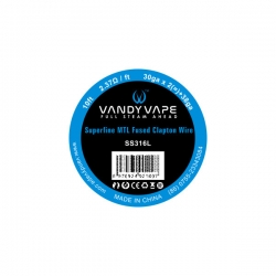 Vandy Vape Superfine MTL Fused Clapton SS316L - 3m