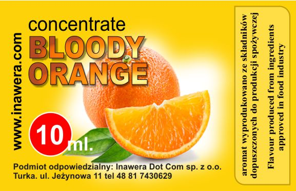 INAWERA - Příchuť do liquidů - Bloody Orange - 10ml