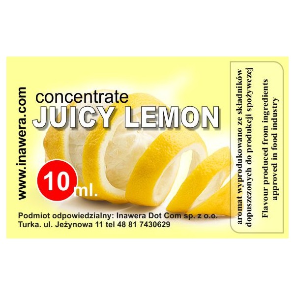 INAWERA příchuť 10ml - Juicy Lemon