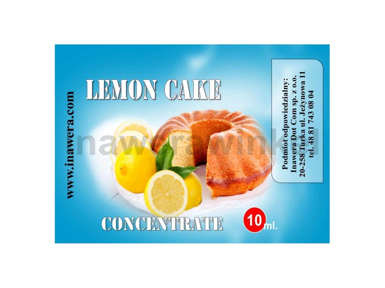 INAWERA příchuť 10ml - Lemon Cake